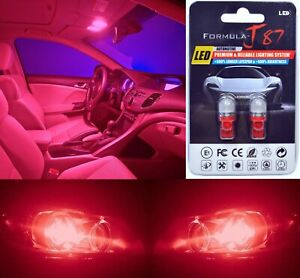 LED 5050 Light Red 194 Two Bulbs Front Side Marker Parking Show Use Upgrade OE