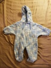 Lullaby Club - Hooded Paw Print Winter Coverall Size 3/6 months     iR1