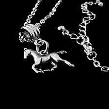 Horse necklace equestrian jewelry Dressage present horsemanship jewelry nice gif