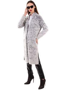 RRP€655 FABIANA FILIPPI Long Cardigan Size 42 S Cashmere Silk Mohair Wool Blend