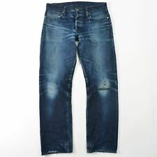 3 Sixteen Japanese Raw Selvedge Denim Jeans Distressed SL-120X USA Mens 33X30