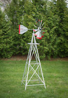 6 Ft Tall Hand Made in the USA! Aluminum Garden Windmill, Wind Wheel