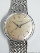 Platinum Accutron 214 Mens Bracelet Bulova Scarce Vintage Dress Watch