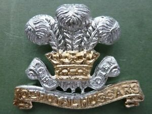 10th Royal Hussars other ranks anodised cap badge