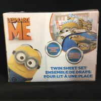 DESPICABLE ME MINIONS Teens Kids Boys Girls 3-PC TWIN SHEET SET Microfiber NEW