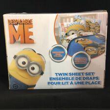 DESPICABLE ME MINIONS Teens Kids Boys Girls 3-PC TWIN SHEET SET Microfiber NEW
