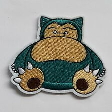Iron On Embroidered Patch Snorlax Pokemon Applique for Hat Jacket T-Shirt DIY