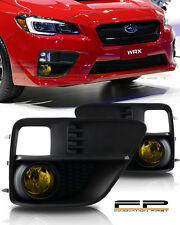 For 2015-2017 Subaru Impreza WRX Yellow Fog Light Kit Wiring Switch Complete Kit