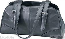 Genuine Leather Shoulder Bag/Handbag #92 BLACK