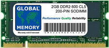 2GB DDR2 800MHz PC2-6400 200-PIN SODIMM MEMORY RAM FOR LAPTOPS/NETBOOKS