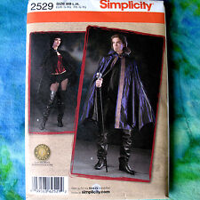 Simplicity 2529 Unisex Vampire Cape Costume Sewing Pattern 2looks L-XL new uncut
