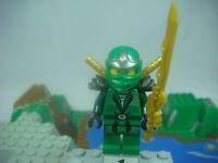 LEGO Ninjago 9450 LLOYD ZX Green Ninja  Minifigure With 3 Golden Swords NEW D32