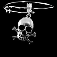 Skull bracelet Pirate bracelet Skull and crossbones gift Skull present Pirates a