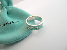 Tiffany & Co. Daisy Blue Enamel Finish Ring 100% Authentic New In Box SIZE 5