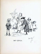 HOP-SCOTCH 1896 PHIL MAY Gutter-Snipes Game VICTORIAN CARTOON
