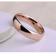 Alianza lisa talla 8 usa con oro rosa laminado 18 kt envío gratis