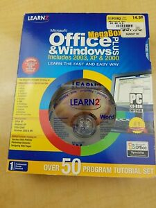 Learn2 Microsoft Office & Windows Plus MegaBox Includes 2003, XP, & 2000. (G)