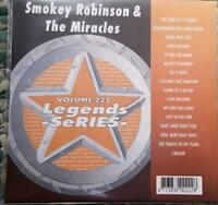 LEGENDS KARAOKE CDG SMOKEY ROBINSON & THE MIRACLES R&B SOUL #222 16 SONGS CD+G