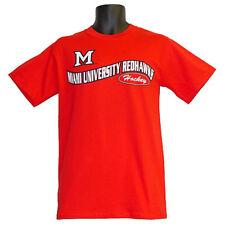 Miami RedHawks Hockey Campus Customs Red Teams Wave T-Shirt - Medium