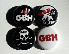 "4 x GBH 1"" Pin Button Badges ( street punk england charged gbh! music )"