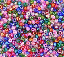 PD: 100 Gramm Mix Rocailles Glasperlen Seed Beads 2x2mm