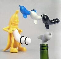 Wine Bottle Stopper Plug FUNNY Vacuum Kitchen Bar Banana Champagne Stopper Cork
