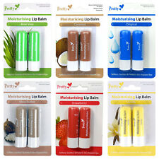 Pretty Lip Balm Salve Twin Pack Flavoured Dry Chapped Lips