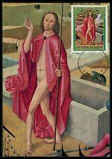 BURUNDI MK 1969 OSTERN GEMÄLDE JESUS CHRISTUS ISENMANN MAXIMUM CARD MC CM bg83