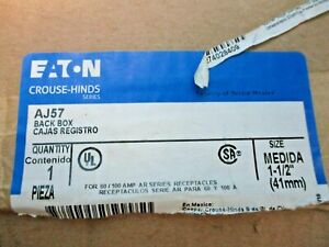 "NEW EATON CROUSE HINDS AJ57 BACK BOX RECEPTACLE HOUSING SIZE 1-1/2"""