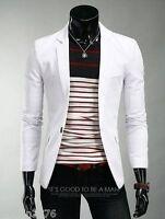 New! 8 colors Stylish Men's Casual Slim fit One Button Suit Blazer Coat Jackets