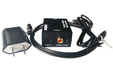 Analog RCA L/R to S/PDIF&TOSLink Coaxial Optical Digital Audio Converter Adapter
