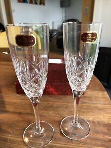 Royal Doulton Crystal Flute Champagne Wine Glasses