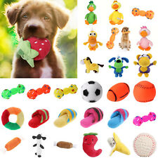 Funny Ball Squeaky Toy Pet Dog Bite Chew Resistant Molar Latex Interactive Clean