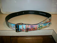 Belt Vinyl Large with chrome Buckle