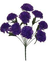 Purple Carnations 9 Heads Silk Flowers Wedding Centerpieces Decorations Crafts
