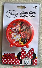 Disney Minnie Mouse Alarm Wecker Kinderwecker Lernwecker Analog Uhr NEU OVP