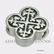 Authentic Lori Bonn Sterling Silver Fortunata Slide Charm 210601