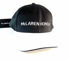 MCLAREN HONDA TEAM CAP FORMULA 1,CURVED PEAK CAP YEAR 2015 BLACK/WHITE, RARE,NEW