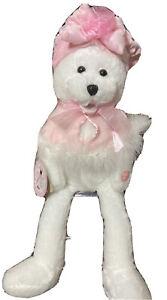 Musical Chantilly Lane Breast Cancer Teddy Bear Sings I Hope You Dance