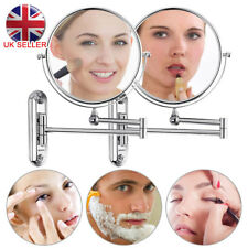 3x Extending Magnifying Makeup Bathroom Shaving Round 2-side Mirror Wall UK