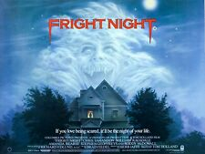 "FRIGHT NIGHT 1985 repro UK quad poster 30x40"" Roddy McDowall Tom Holland FREE PP"