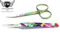 Professional Beauty Eyebrow Eyelash Extension Tweezers and scissors in Multy