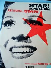 JULIE ANDREWS..STAR SONG ALBUM..MOVIE PHOTOS..10 SONGS..CAST LISTS..VERY GOOD