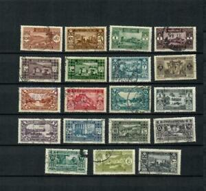 Liban  FRANCE COLONIES POSTALLY USED SET OF VIEW STAMPS  HCV  LOT( LEB 84)
