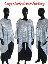 Lagenlook Big-überwurf-long-pulli Light Grey Chunky Knitted XXL, XXXL, 4XL, 5XL