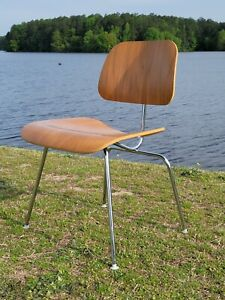 2006 Eames for Herman Miller DCM Plywood Chair Mid Century Mod Walnut