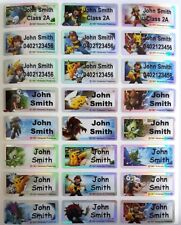 Pokemon Laser Personalised Name Label Stickers - 96 Med (30*13mm)  - Dishwasher