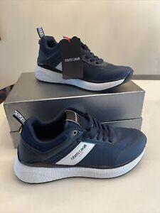 Designer Shoes Men Roberto Cavalli Size 9/42 Dark Blue