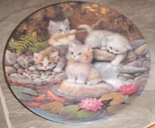 1996 The Bradford Exchange Collector Plate kittens Cat Germany numbered
