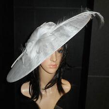 Cappello Grigio Argento Fascinator con disco Ascot da Matrimonio Cappello OCCASIONE Madre della Sposa